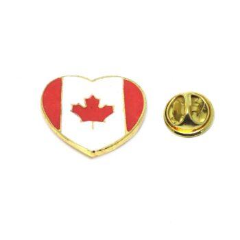 Heart Canada Flag Lapel Pin