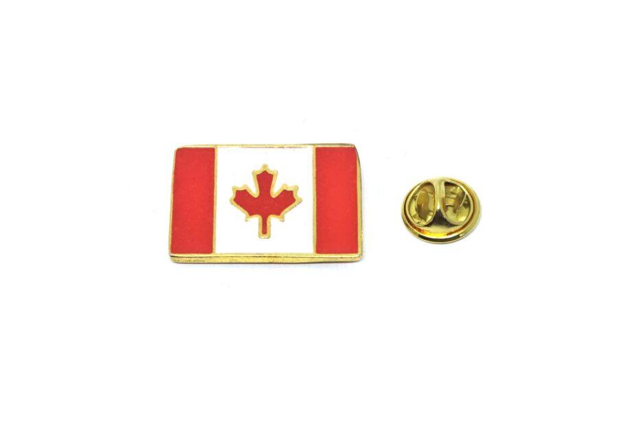 Rectangle Canada Flag Lapel Pin