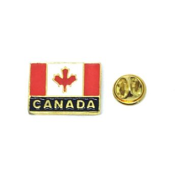 Gold plated Canada Flag Lapel Pin