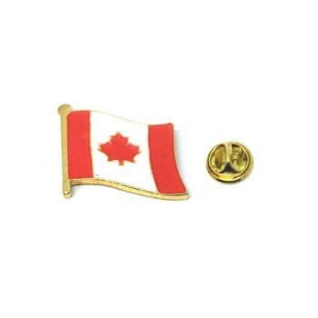 Gold tone Canada Flag Lapel Pin