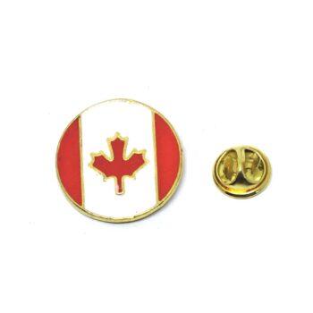 Round Canada Flag Lapel Pin