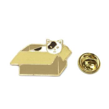 Box Cat Lapel Pin