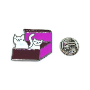 Cat Home Lapel Pin