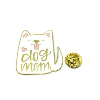 """""""Dog Mom"""" Cat Lapel Pin"""