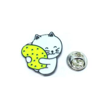 Black Plated Cat Lapel Pin