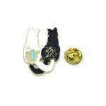 Two Cat Lapel Pin