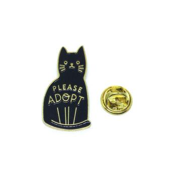 """Please Adopt"" Cat Lapel Pin"