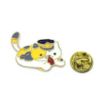 Multi-color Enamel Cat Lapel Pin