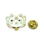 Listening Cat Enamel Lapel Pin