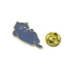 Gold Tone Enamel Cat Pin