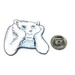 Thinking Cat Lapel Pin
