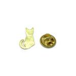 Gold tone Cat Lapel Pin