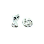 Silver plated Tiny Cat Lapel Pin