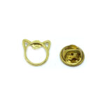 Gold plated Tiny Cat Lapel Pin