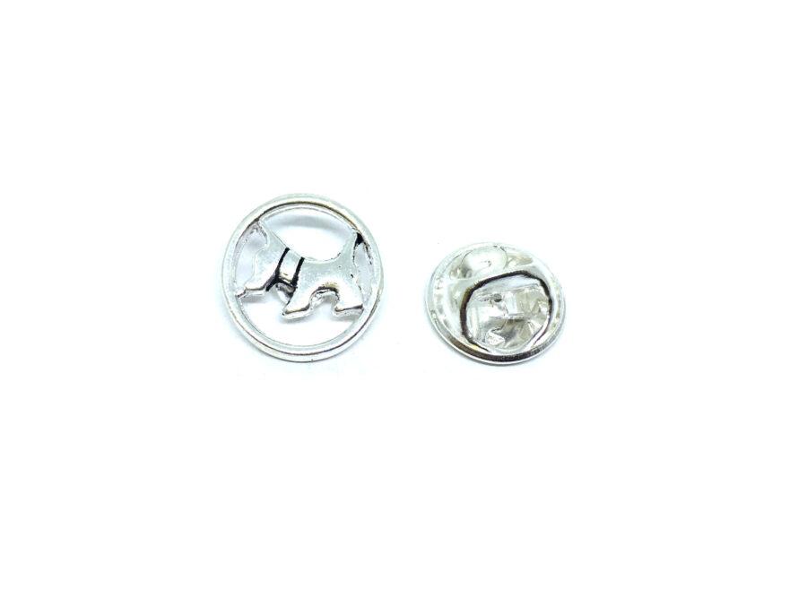 Silver tone Cat Lapel Pin