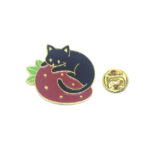 Gold plated Cat Lapel Pin