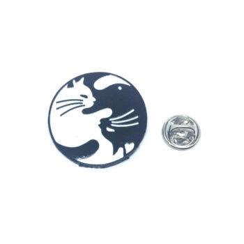 Black & White Cat Lapel Pin
