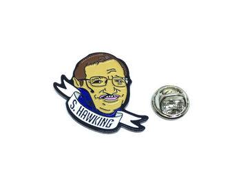 Physicist Stephen Hawking Lapel Pin