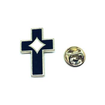 Black Enamel Cross Lapel Pins