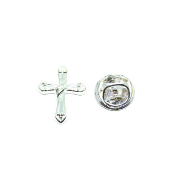 Silver plated Cross Lapel Pins