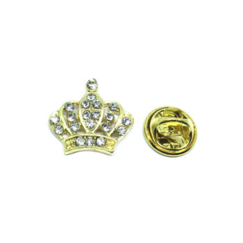 Silver plated Crown Pin