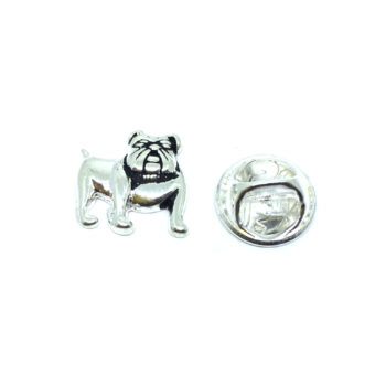 Silver plated Antique Dog Lapel Pin