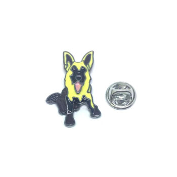 Black plated Dog Lapel Pin