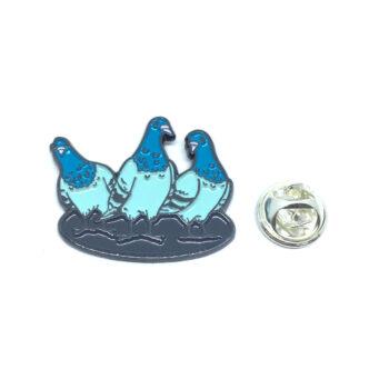 Enamel Three Dove Lapel Pin