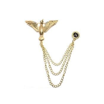 Charm chain with Dove Brooch Pin
