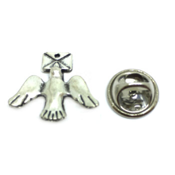 Silver plated Dove Lapel Pins