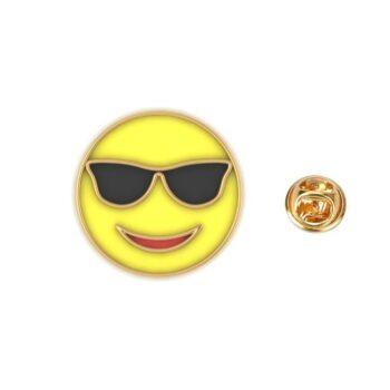 Sunglass Emoji Lapel Pin