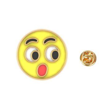 Gold tone Enamel Emoji Lapel Pin