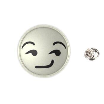 Silver plated Enamel Emoji Pin
