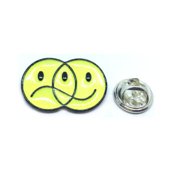 Black Plated Yellow Emoji Lapel Pin