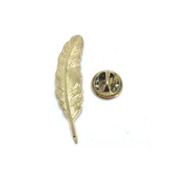 Gold plated Feather Lapel Pin