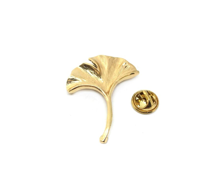 Gold tone Feather Lapel Pin