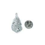 Silver tone Feather Pin