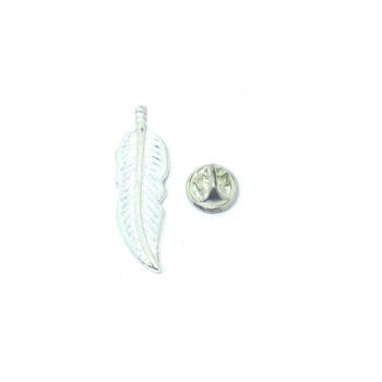 Silver platting Feather Pin