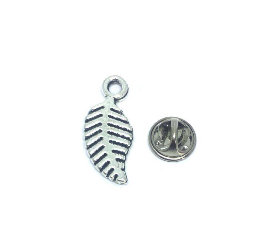 Silver platting Feather Lapel Pin