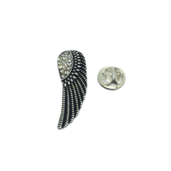 Crystal Antique Feather Lapel Pin