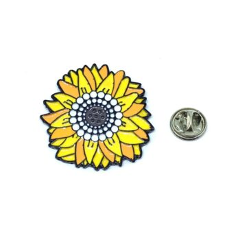 Colorful Flower Lapel Pin