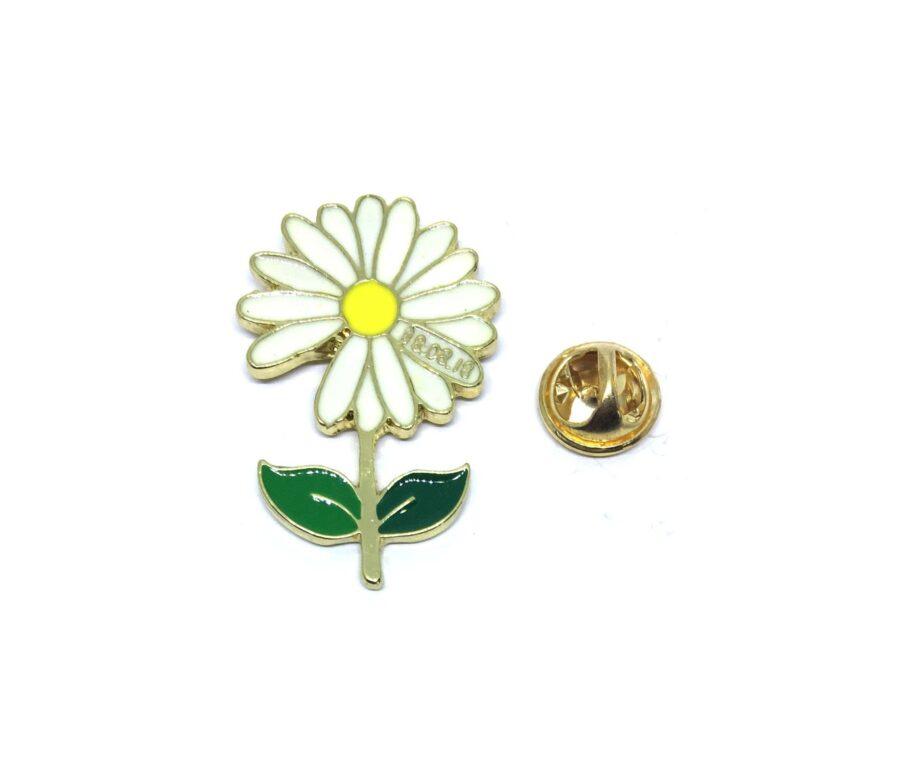 Gold plated Enamel Flower Lapel Pin