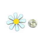 White & Yellow Enamel Flower Lapel Pin