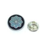 Silver plated Enamel Flower Pin