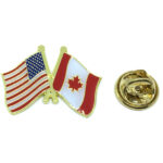 The USA & Canada Flag Lapel Pins