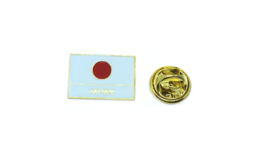 Enamel Japan Flag Lapel Pin