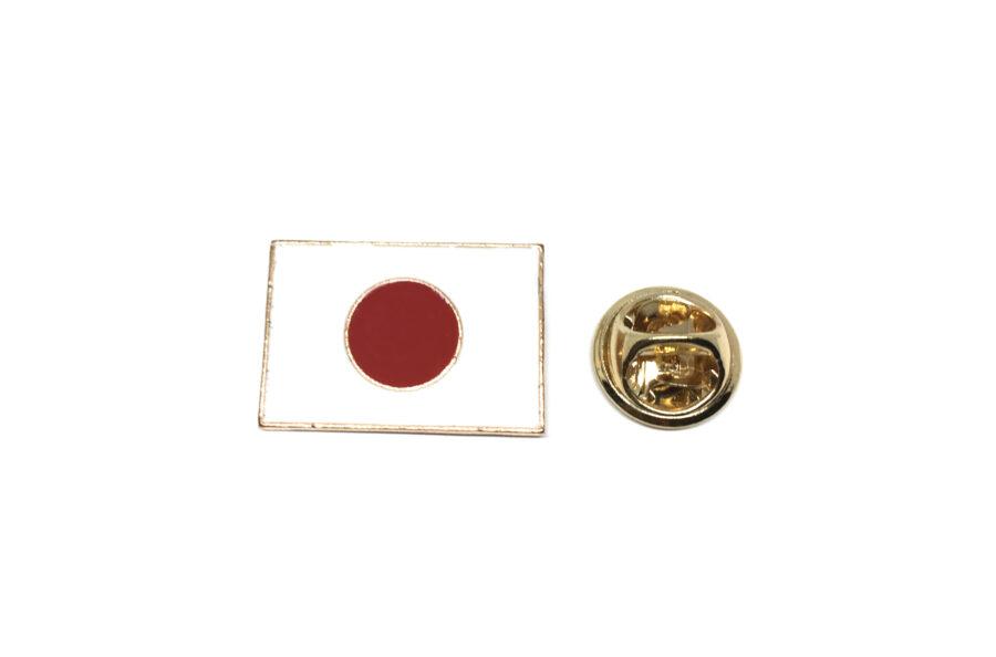 Japan Flag Square Lapel Pin