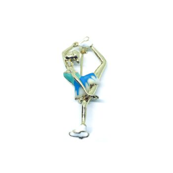 Enamel Gymnastics Brooch Pin