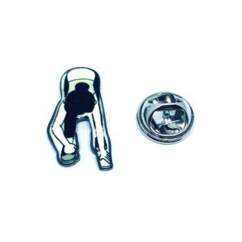 Silver plated Enamel Gymnastics Lapel Pin