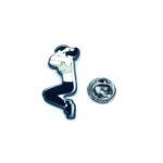 Black Enamel Gymnastics Lapel Pin